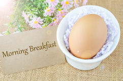Morning breakfast and egg Stock Photos