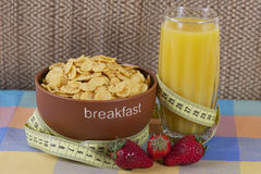 The morning breakfast on the table. Low-calorie the morning breakfast on the table Stock Photos