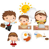 Morning Breakfast Vector Set Royalty Free Stock Photography