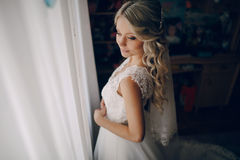 Morning bride Royalty Free Stock Image