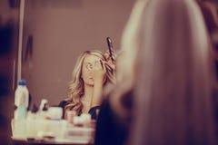 Morning  bride makeup Royalty Free Stock Image