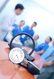 Morning briefing of medical staff Royalty Free Stock Photos