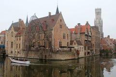 Morning in Brugge, Belgium Stock Images