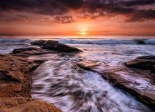 Morning in Burgas Bay Stock Image