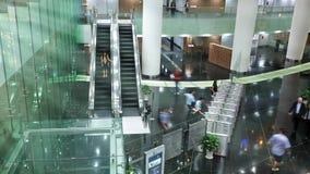 Morning in business center in Vietnam stock video