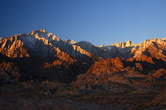 Morning at california sierra mountain Royalty Free Stock Images