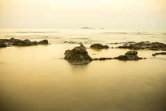 Morning calm at the beach Royalty Free Stock Photos