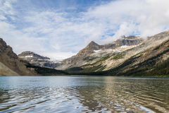 Morning calm Bow Lake, Banff National Park, ALberta, Canada Royalty Free Stock Images