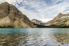 Morning calm Bow Lake, Banff National Park, ALberta, Canada Stock Photo