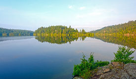 Morning Calm on a Wilderness lake Royalty Free Stock Images