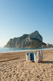 Morning on Calpe beach Royalty Free Stock Photos
