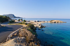 Morning at campers favorite site for summer vacations. Near Destenika, Sithonia, Greece royalty free stock photo