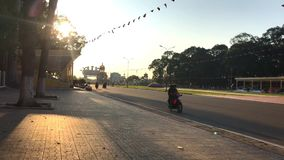 Morning at the caodai mecca in Vietnam. stock video