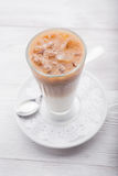 Morning cappuccino Stock Images