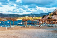 Morning at Capriccioli in Costa Smeralda Sardinia island Italy. Capriccioli, Italy - September 10, 2017: Morning at Capriccioli in Costa Smeralda, Sardinia stock images