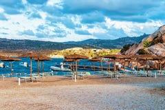 Morning at Capriccioli in Costa Smeralda Sardinia island Italy. Capriccioli, Italy - September 10, 2017: Morning at Capriccioli in Costa Smeralda, Sardinia stock image