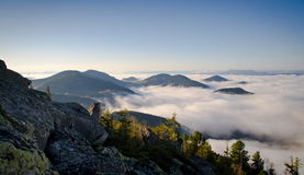 Morning Carpathian mountains in western Ukraine Royalty Free Stock Images
