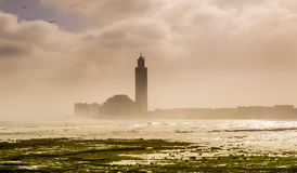 Morning in Casablanca - View at the Hasan II. mosque Stock Images