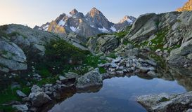 Morning in Caucasus. This is sunny morning in Caucasus mountains in summer Stock Image