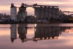 Morning Cement Plant, Fraser River Stock Images