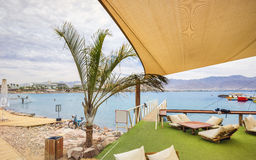 Morning at central beach in Eilat Stock Image