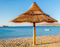 Morning at central beach of Eilat, Israel Stock Images