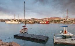 Morning at central marina of Eilat Royalty Free Stock Photography