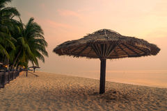 Morning at Cha-Am beach, Phetchaburi, Thailand Royalty Free Stock Image