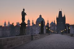 Morning Charles Bridge Stock Image
