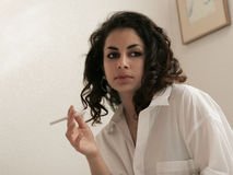Morning cigarette Royalty Free Stock Photography