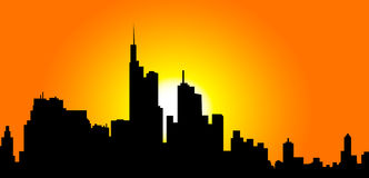 Morning City - Vector. Morning City is a  illustration Stock Image