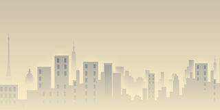 Morning city view. City life..landscap Stock Image