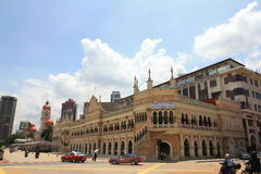 Morning city view of merdeka square of Kuala Lumpur on national day Stock Image