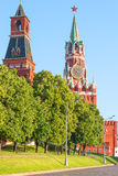 Morning cityscape center of Moscow Royalty Free Stock Images