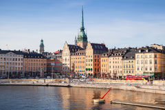 Morning cityscape. Gamla Stan, Stockholm Stock Photo