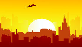 Morning Cityscape -. Morning Cityscape is a  illustration Stock Images