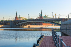 Morning cityscape of Moscow Stock Photo