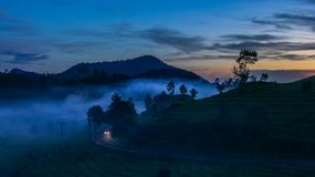 Morning in Ciwidey, Jawa Barat, Indonesia. This image was taken at Ciwidey, Jawa Barat, Indonesia at early morning Stock Image