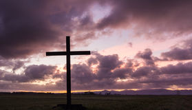 Morning Cloud Cross Stock Images