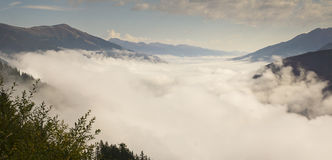 Morning clouds Austrian Alps Royalty Free Stock Image