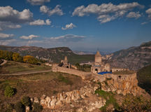 Morning clouds over Tatev Stock Image