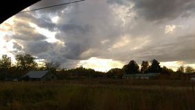 Morning clouds. Sunrise sky school days Stock Photos