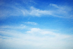 Morning cloudscape on mulberry paper Royalty Free Stock Image