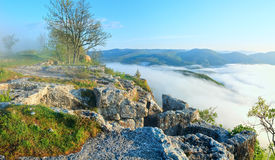 Morning cloudy view from top of Mangup ancient settlement Stock Photos