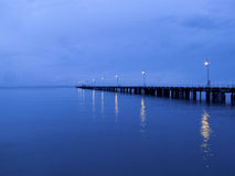 Morning coast. Arly in the morning, when the sky will be lit by bright ocean views Stock Images