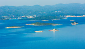 Morning coastline of Korcula Island (Croatia) royalty free stock photos