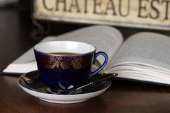 Morning coffee. Black coffee in the morning Royalty Free Stock Image