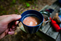 Morning Coffee In The Backcountry Royalty Free Stock Photos
