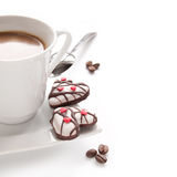 Morning coffee and biscuits Royalty Free Stock Photos