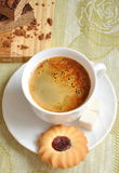 Morning coffee with biscuits and cake Royalty Free Stock Photos